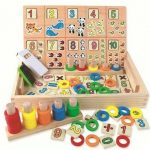 Donuts Number Crunching Wooden Toy
